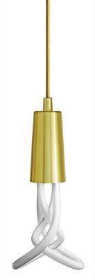 Luminaire - Suspensions - Suspension / Set câble + cache-douille - Plumen - Laiton - Métal, Textile
