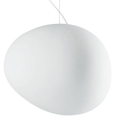 Suspension gregg grande verre l 47 cm blanc foscarini for Grande suspension luminaire