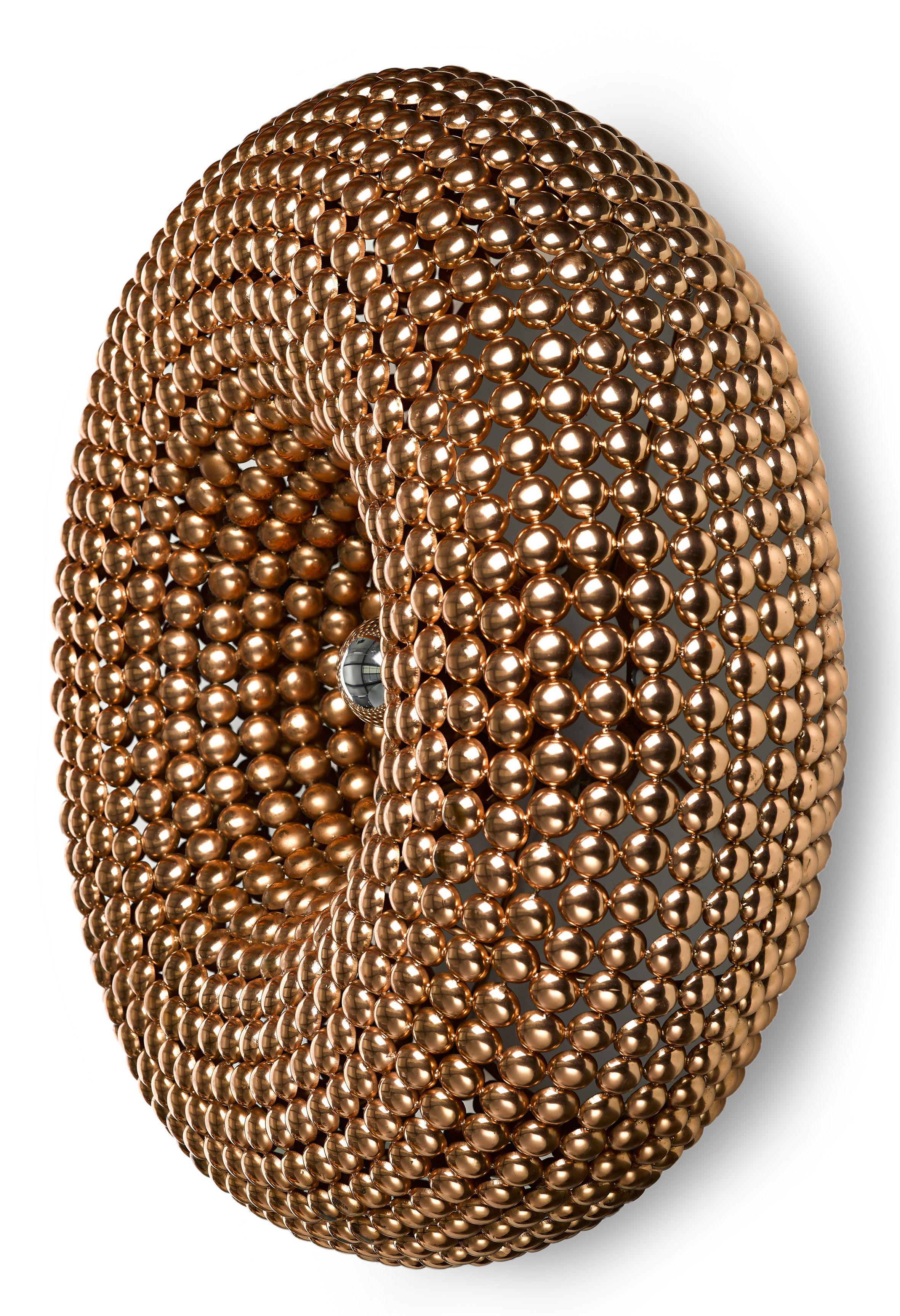 dot wall light 64 cm copper by pols potten. Black Bedroom Furniture Sets. Home Design Ideas