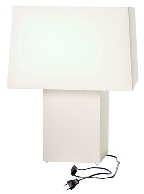 Lighting - Table Lamps - DoubleSquare Light Table lamp by Moooi - White - Cotton
