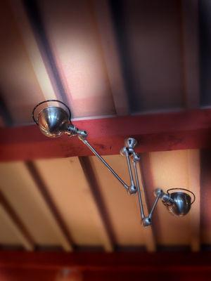 Suspension loft double 2 bras l max 130 cm chrom brillant jield - Luminaire suspension bras articule ...
