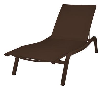 Jardin - Chaises longues et hamacs - Bain de soleil Alizé XS larg 72 cm / 2 positions - Fermob - Rouille - Aluminium laqué, Toile polyester