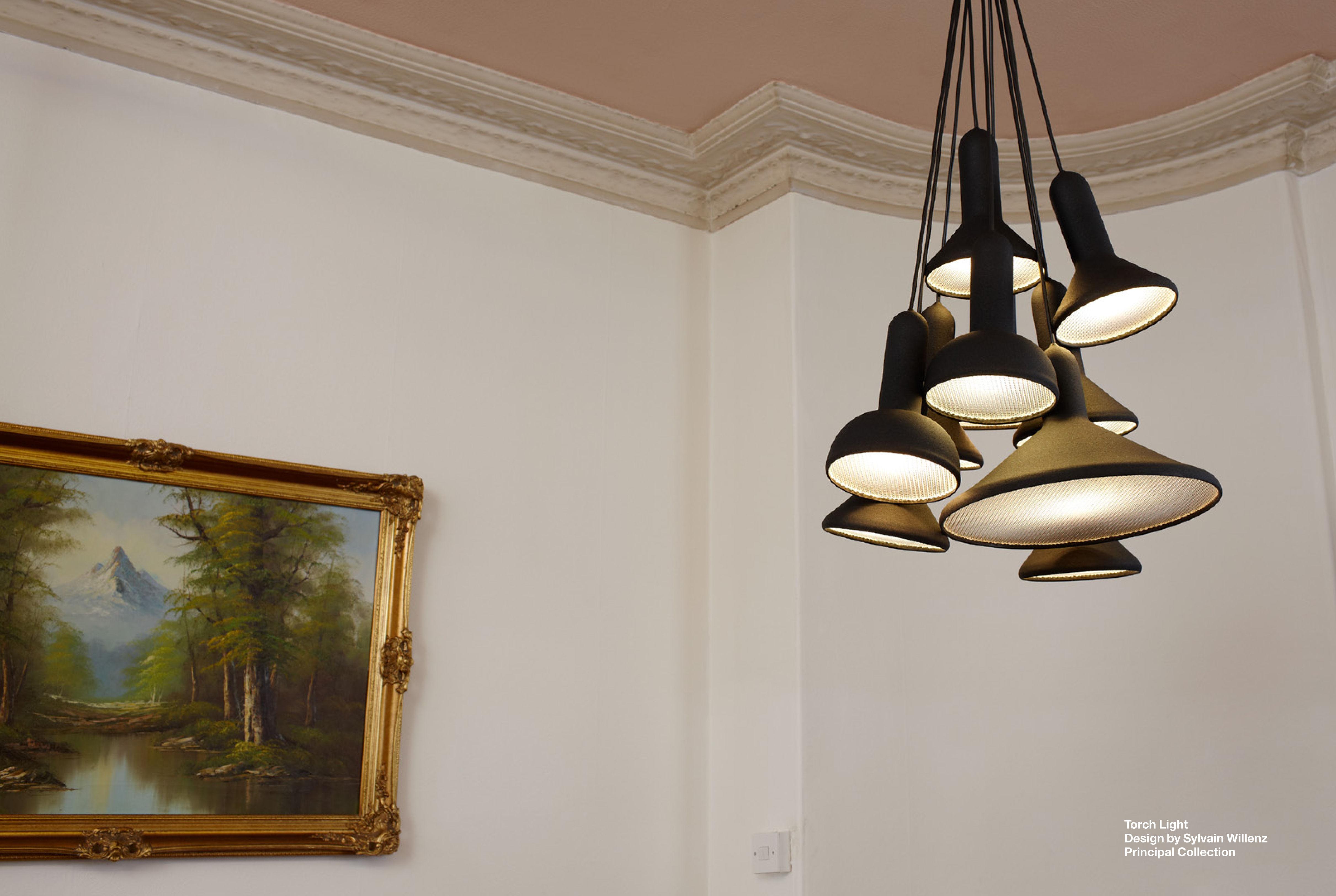 torch light set aus 10 h ngelampen established sons pendelleuchte. Black Bedroom Furniture Sets. Home Design Ideas
