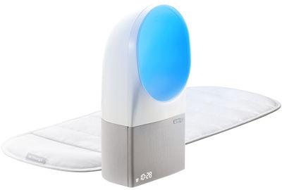Réveil connecté Aura avec capteur de sommeil Programmes sonores lumineux Nokia blanc en matière plastique