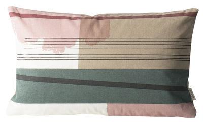 Déco - Coussins - Coussin Colour Block n°1 / Small - 40 x 25 cm - Ferm Living - Rose, Vert, Beige - Coton