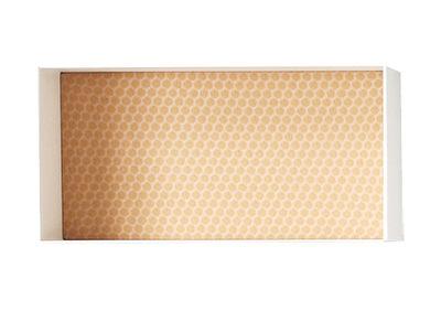 Foto Scaffale Alma - / Modello 40 x 20 cm - Prof 30 cm - Panneau tessuto Dot Sun di Casamania - Bianco,Giallo - Metallo
