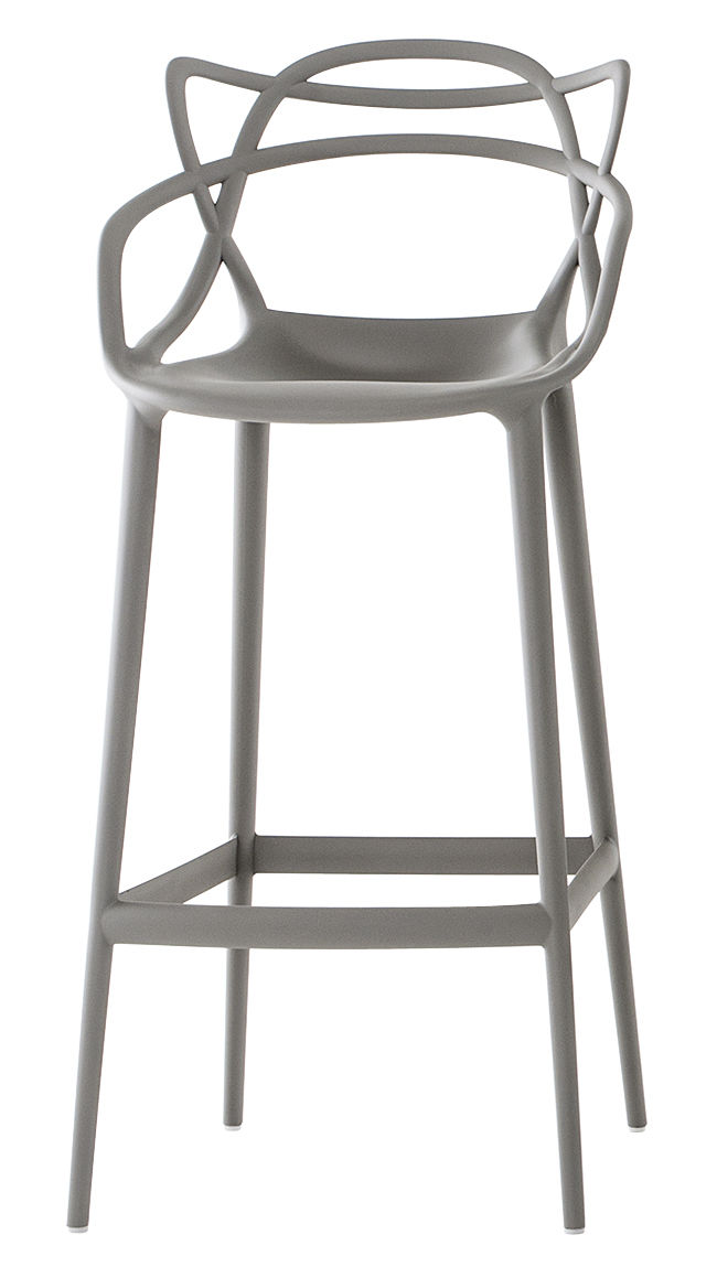 Chaise de bar masters h 75 cm polypropyl ne gris kartell for Chaise 75 cm
