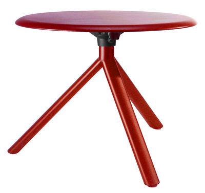 Tavolino Miura di Plank - Rosso - Metallo