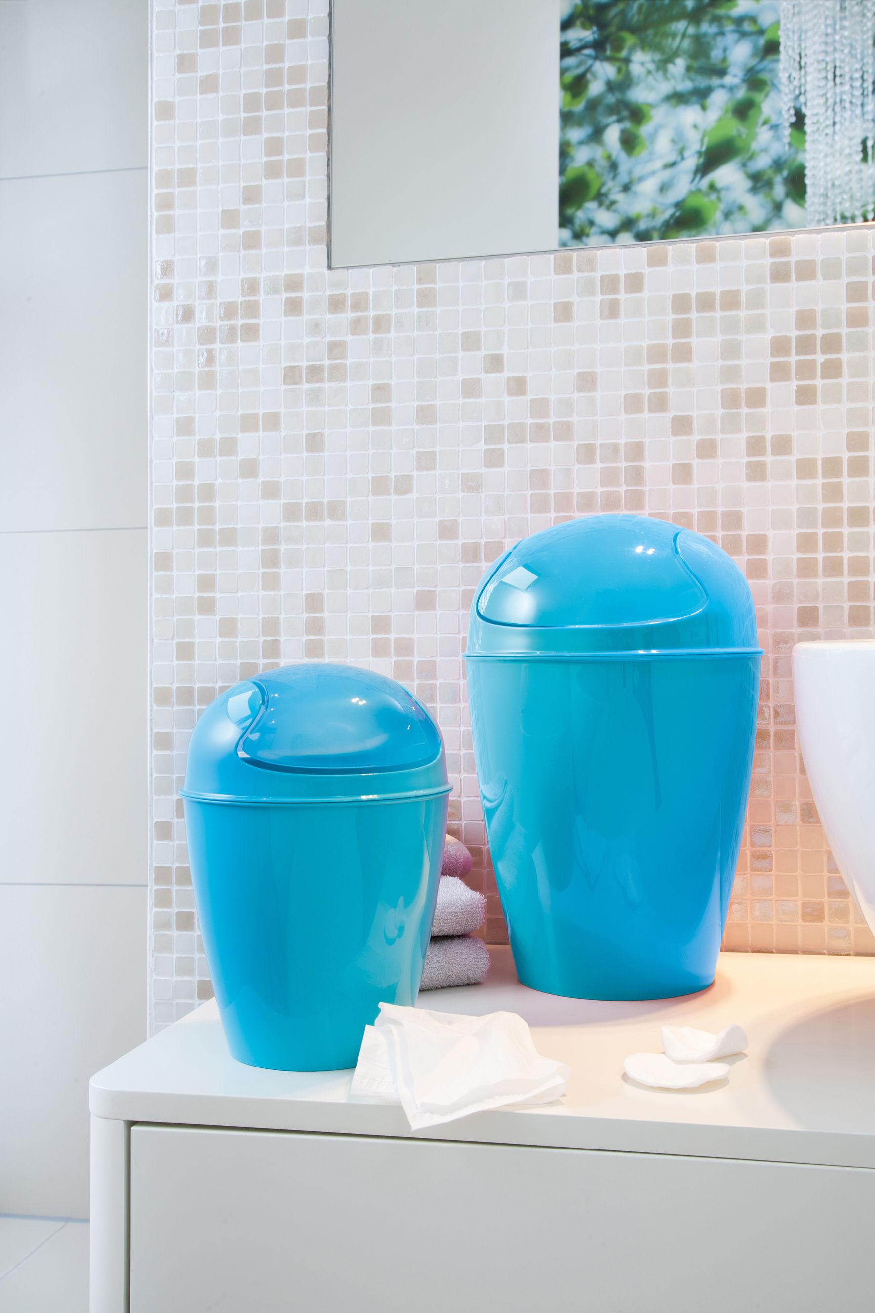 Del xs bin solid turquoise by koziol for Turquoise bathroom bin