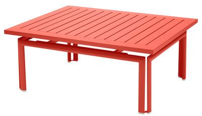 Table basse Costa / Aluminium - 100 x 80 cm - Fermob capucine en métal