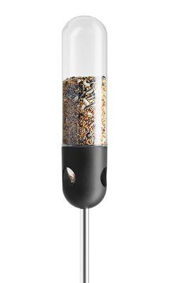 Mangeoire à oiseaux tubulaire / Sur pied - Eva Solo noir,acier,transparent en verre