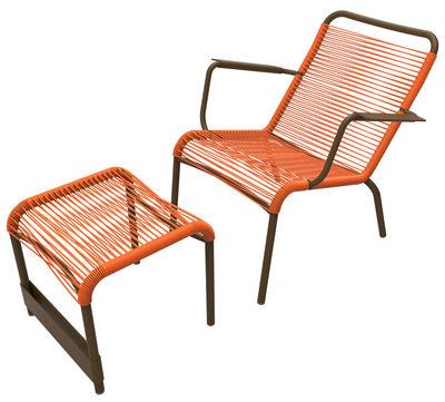 Set fauteuil & repose-pieds Saint Tropez - Fermob carotte,rouille en métal