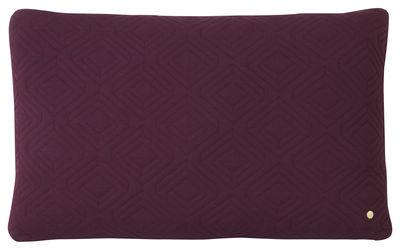 Coussin Quilt XL / 80 x 50 cm - Ferm Living bordeaux en tissu