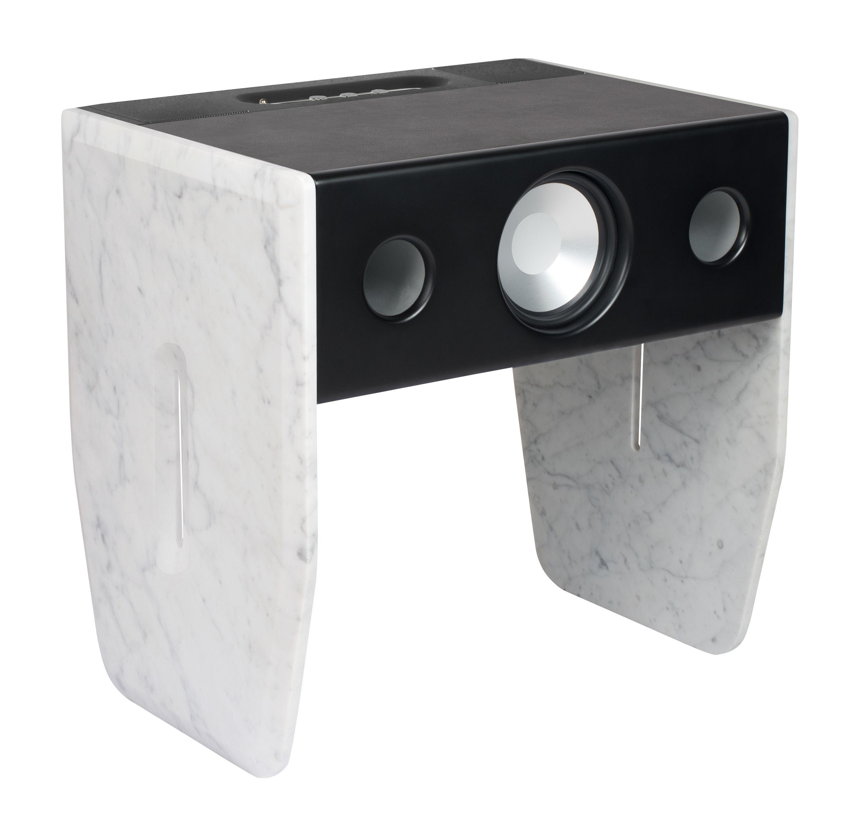 Enceinte Bluetooth Cube Marble Marbre Blanc De Carrare Marbre  # Meuble Tv Led Mdf Blanc Enceinte