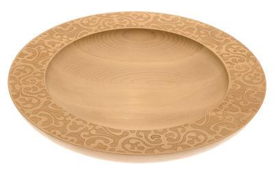 Arts de la table - Corbeilles, centres de table - Centre de table Dressed in Wood / Ø 39 cm - Alessi - Bois naturel - Hêtre