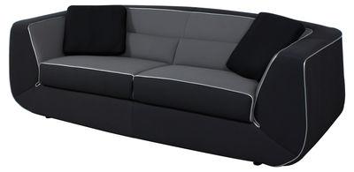 canap convertible bump xl by ora ito 3 places l 238 cm noir gris passepoil argent. Black Bedroom Furniture Sets. Home Design Ideas