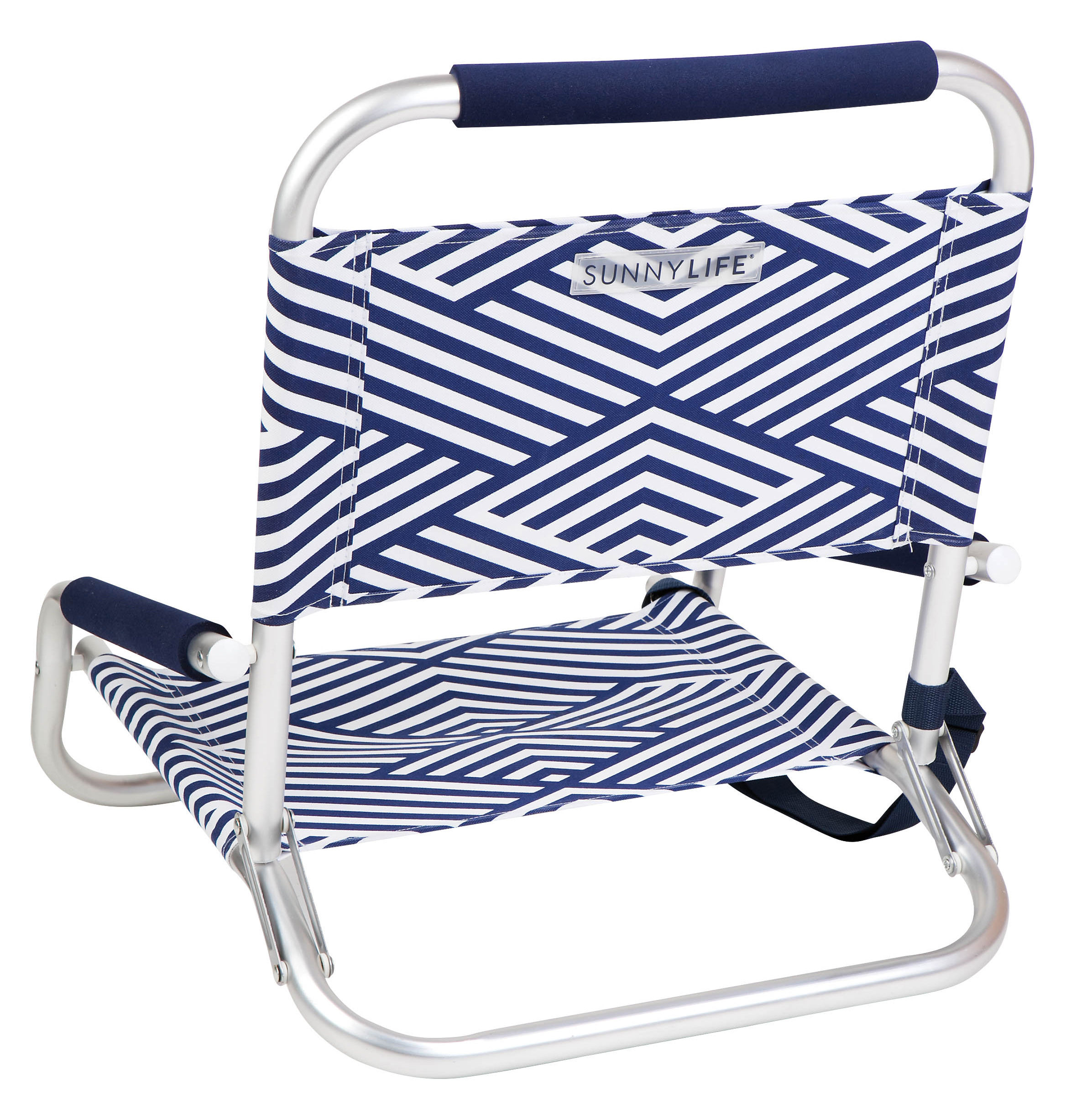 Montauk Foldable beach chair Foldable & reclining Montauk Blue & white by Sunnylife
