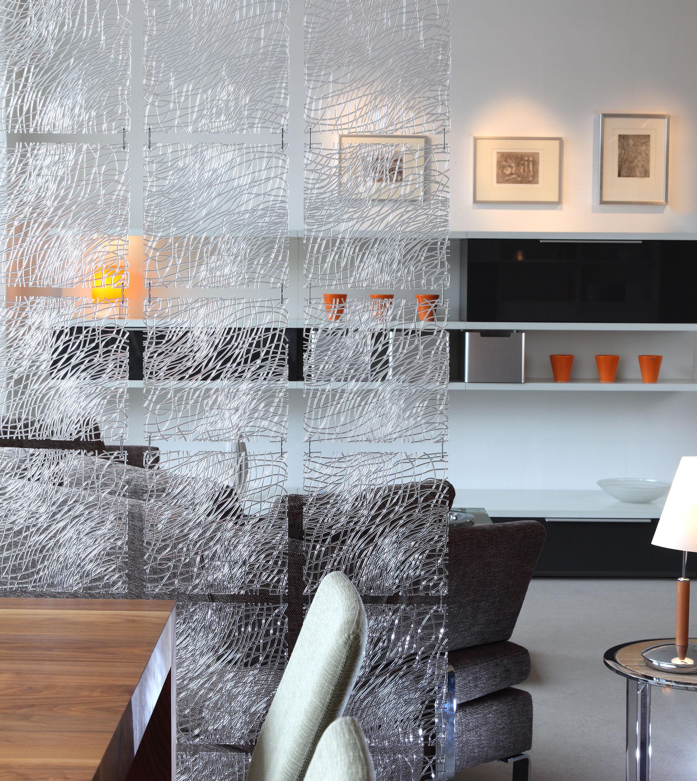 cloison silk set de 4 crochets inclus opaque noir koziol. Black Bedroom Furniture Sets. Home Design Ideas