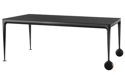 Table Big Will / 280 x 120 cm - Magis orange,noir en métal
