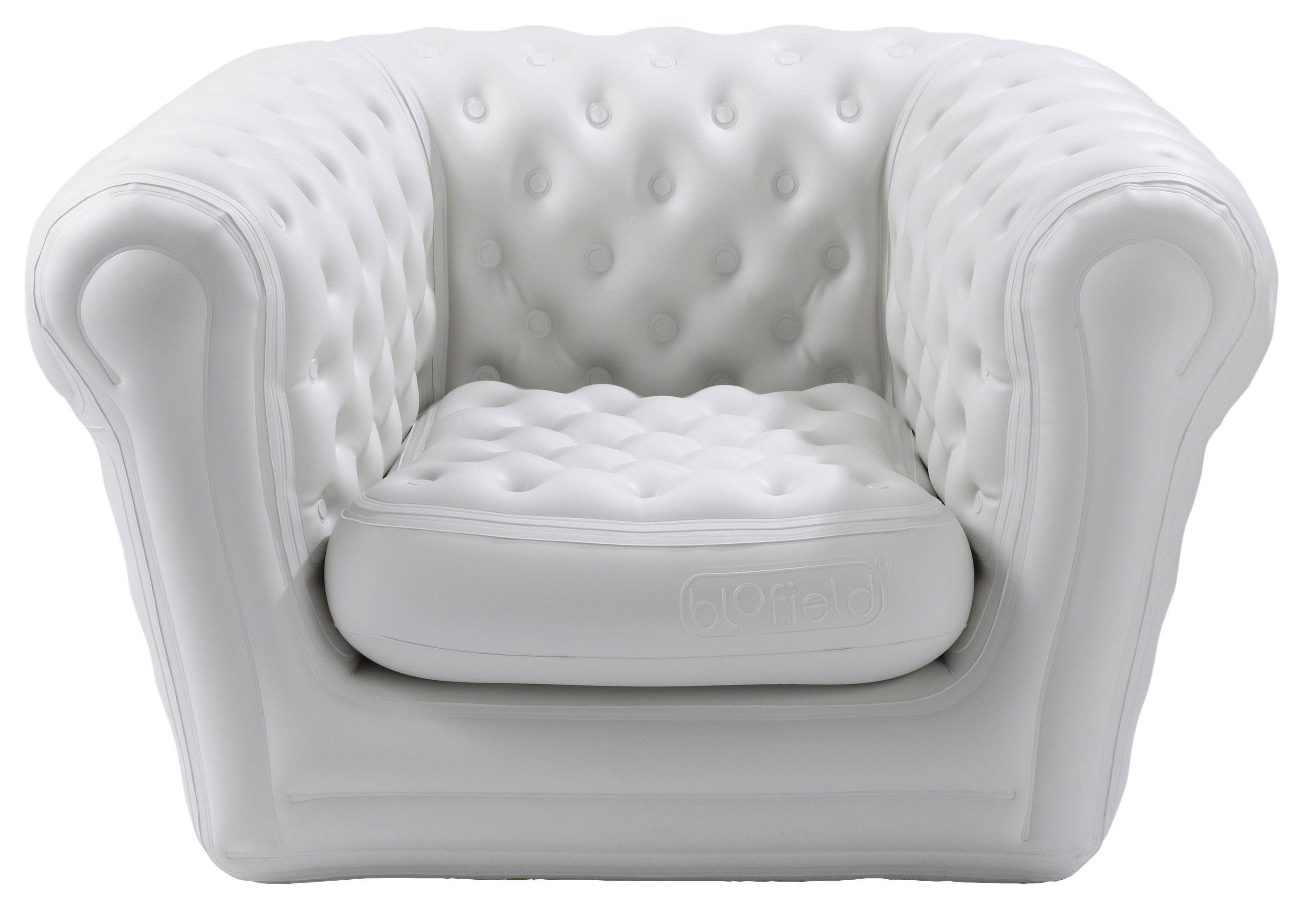 fauteuil gonflable big blo 1 blanc blofield. Black Bedroom Furniture Sets. Home Design Ideas