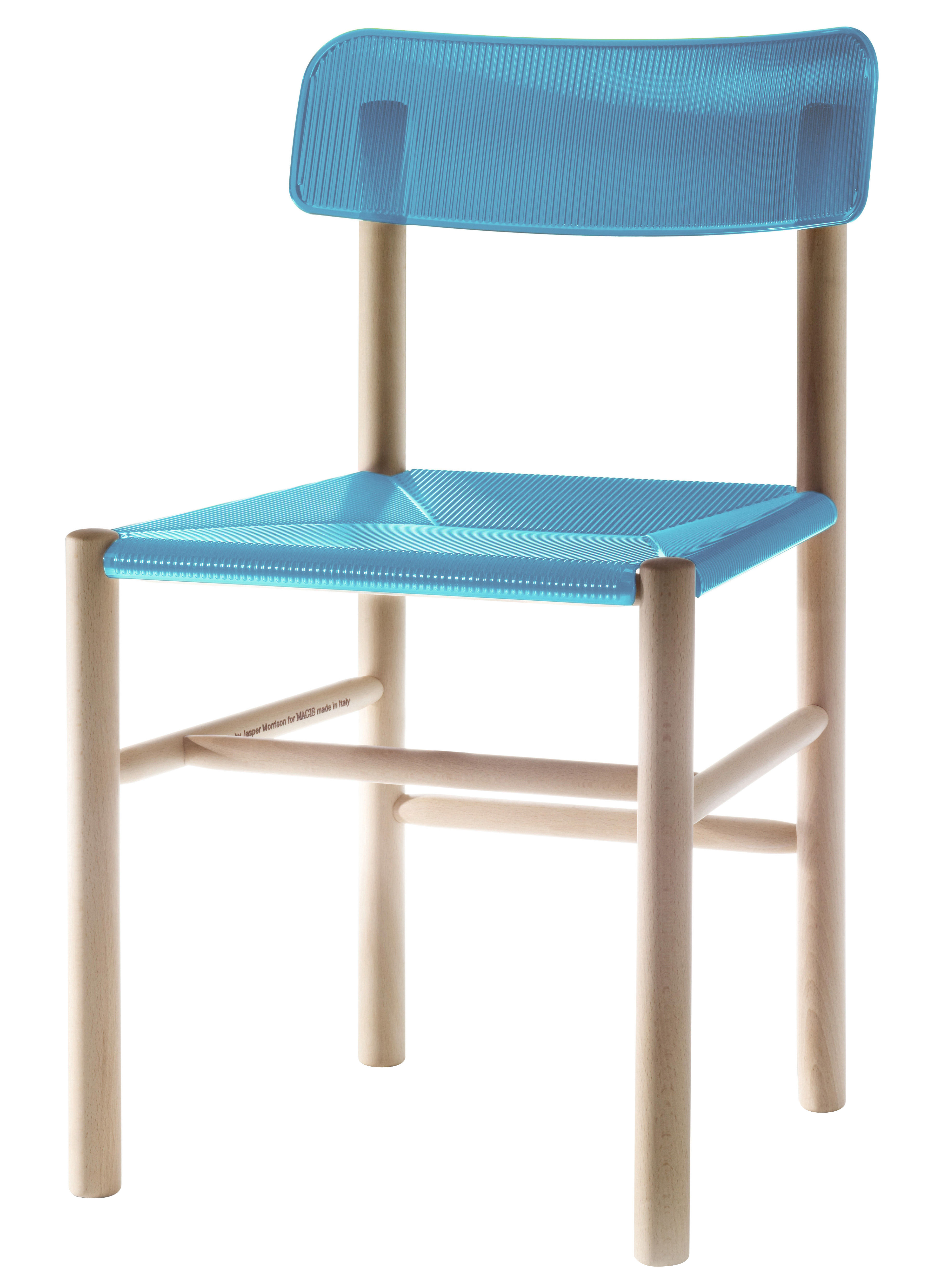trattoria chair chair plastic wood blue by magis. Black Bedroom Furniture Sets. Home Design Ideas