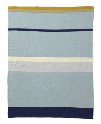Image of Little stripy Kinderdecke / 80 x 100 cm - Baumwolle - Ferm Living - Blau,Bunt