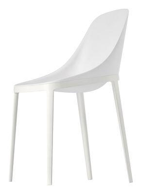 Mobilier - Chaises, fauteuils de salle à manger - Chaise Elle / Assise polyuréthane & pieds métal - Alias - Polyurétahne blanc / structure blanche - Aluminium laqué, Polyuréthane