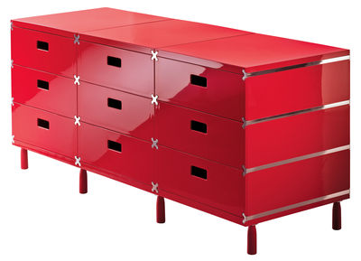Furniture - Teen furniture - Plus Unit Crate - 4 drawers by Magis - Red - ABS
