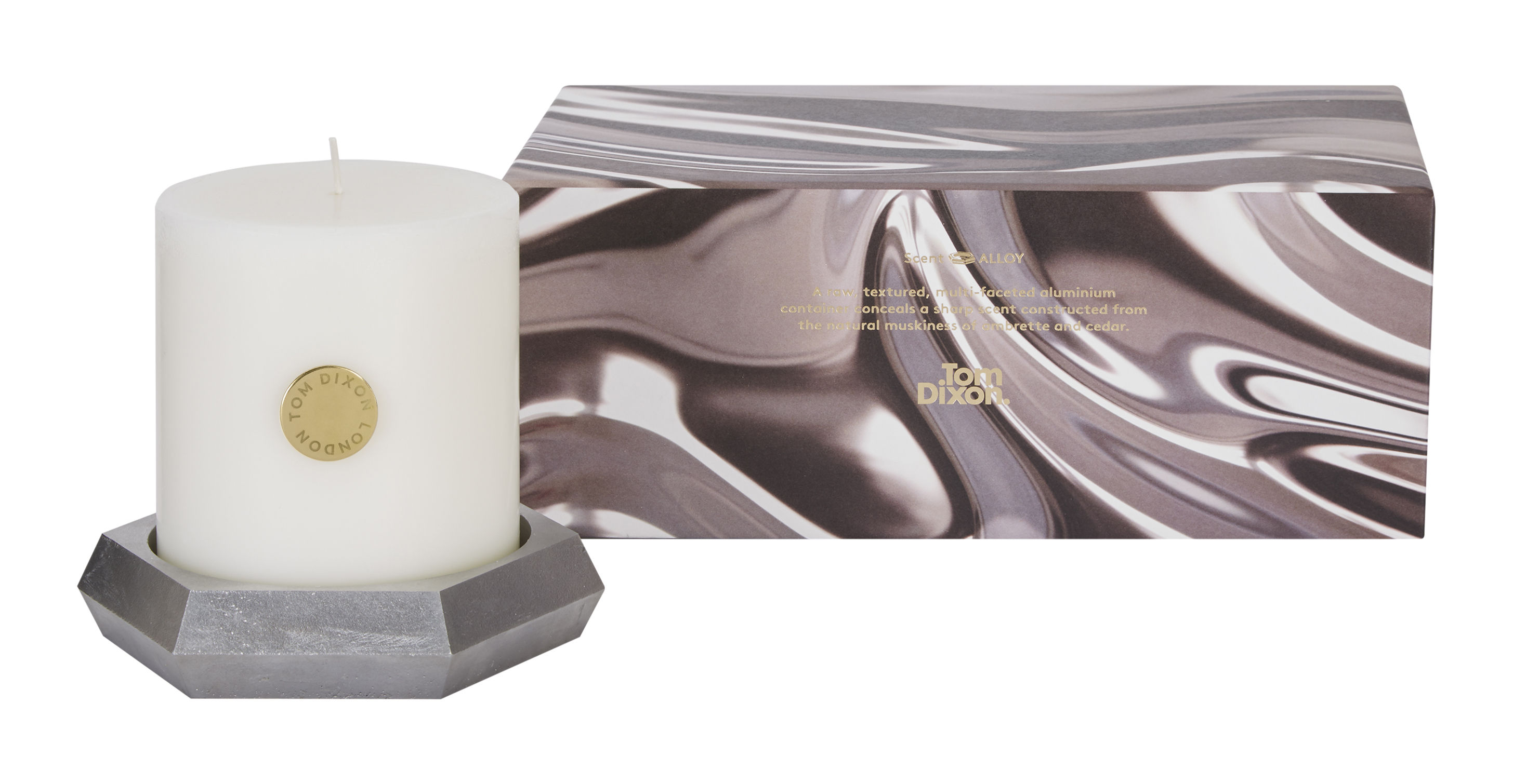 alloy pillar set aus kerze kerzenst nder aus aluminiumguss tom dixon parfumierte kerze. Black Bedroom Furniture Sets. Home Design Ideas