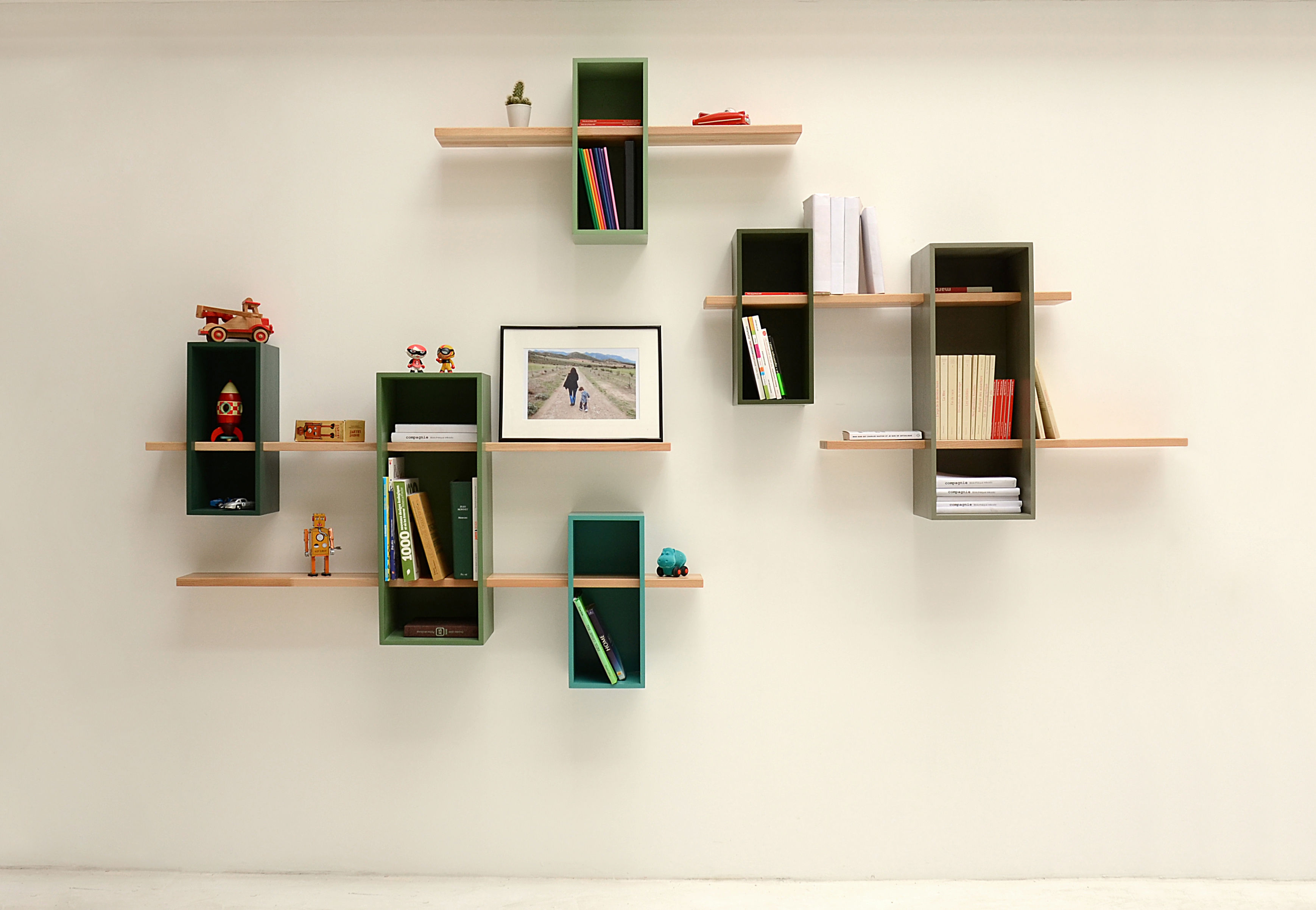 max shelf moss green olive green by compagnie. Black Bedroom Furniture Sets. Home Design Ideas
