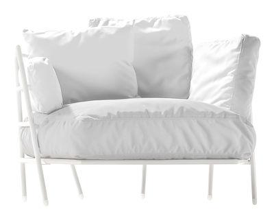 Mobilier - Fauteuils - Fauteuil rembourré Dehors / Pour l'extérieur - Alias - Structure blanche / Coussins blancs - Acier laqué, Tissu acrylique