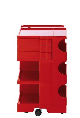 Desserte Boby / H 73 cm - 3 tiroirs - B-LINE rouge en matière plastique