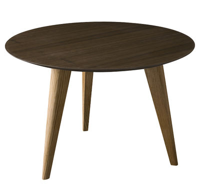 Table basse Lalinde Ronde / Large - Ø 55 cm - Sentou Edition noyer en bois