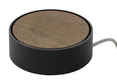 Station de charge Eclipse 3 ports USB Native Union noir,bois naturel en métal