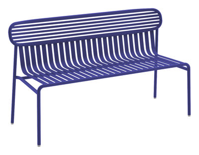 Foto Panca con schienale Week-End - / Esclusiva web di Oxyo - Oltremare - Metallo