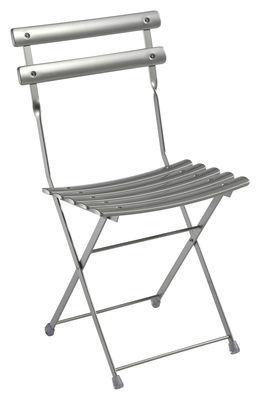 Mobilier - Chaises, fauteuils de salle à manger - Chaise pliante Arc en Ciel / Métal - Emu - Aluminium - Acier inoxydable verni