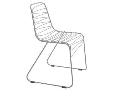 Chaise empilable Flux Métal Magis gris clair en métal
