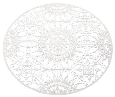 Dessous de plat Italic Lace / Ø 34 cm - Dessous de plat - Driade Kosmo blanc en métal
