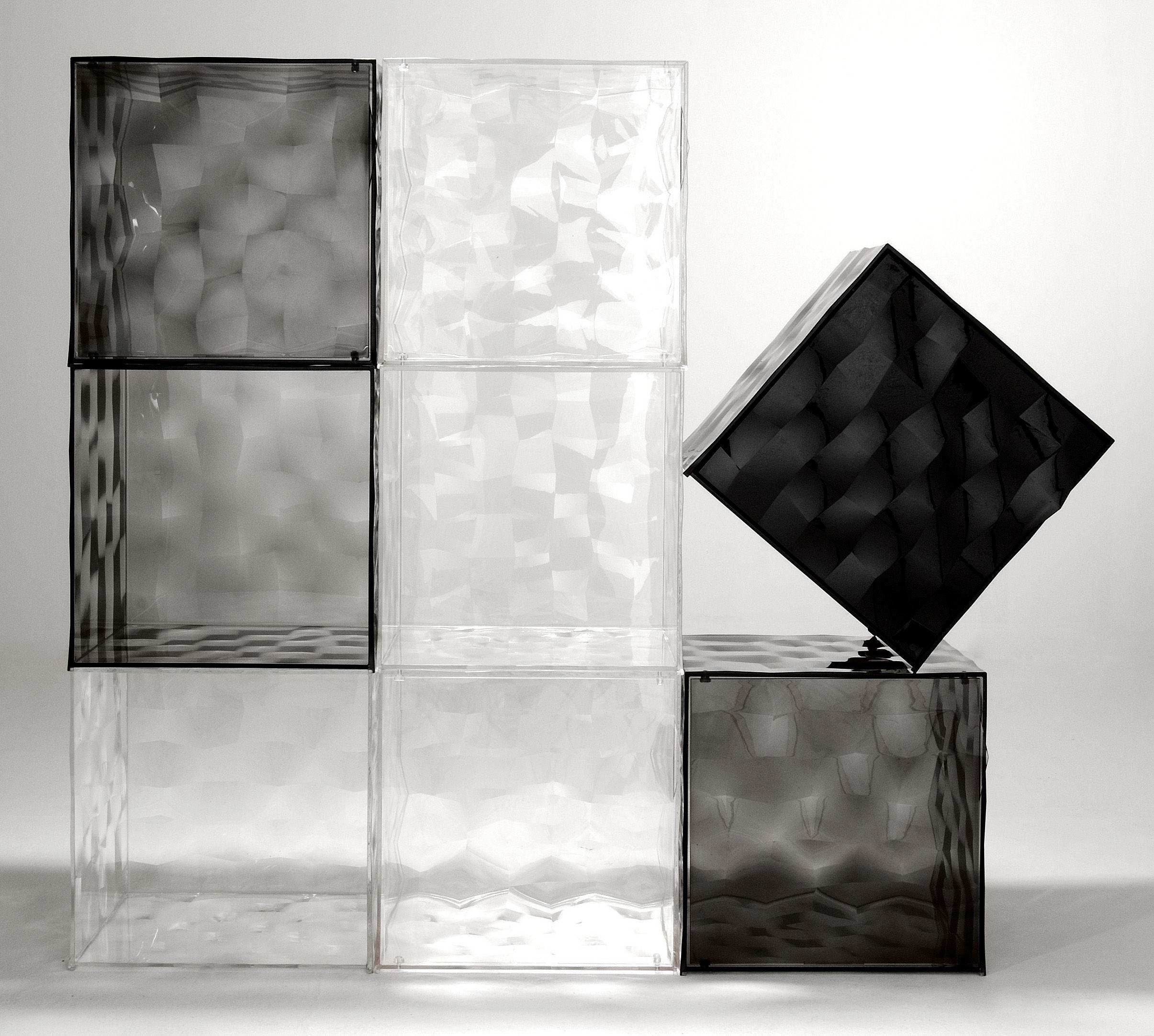 Scopri portaoggetti optic con porta viola trasparente di - Porta cd design ...