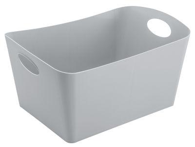 Panier Boxxx L 15 L Koziol gris froid opaque en matière plastique