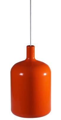 Suspension Bulb - Bob design orange en matière plastique