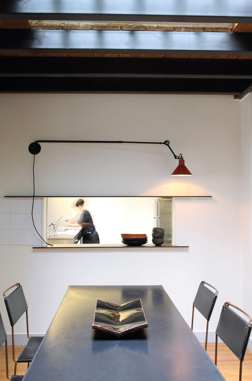 applique n 213 bras t l scopique lampe gras noir mat. Black Bedroom Furniture Sets. Home Design Ideas