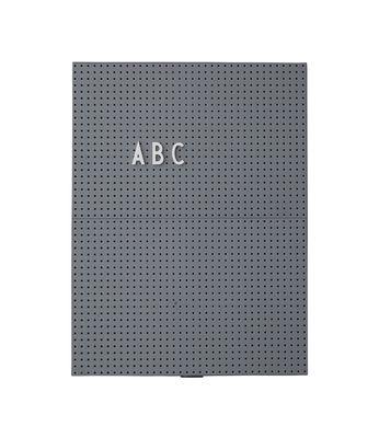 Tableau memo A4 / L 21 x H 30 cm - Design Letters gris foncé en matière plastique