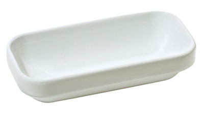 Tableware - Bowls and salad bowls - Programme 8 Small container by Alessi - White - Stoneware ceramic