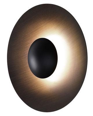 Luminaire - Appliques - Applique Ginger Large / LED - Ø 60 cm - Bois - Marset - Wengé / Extérieur wengé - Contreplaqué de wengé, Métal laqué