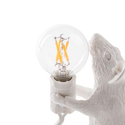 Ampoule LED E12 / 1W - 90 lumen / Pour lampes Mouse - Seletti transparent en métal
