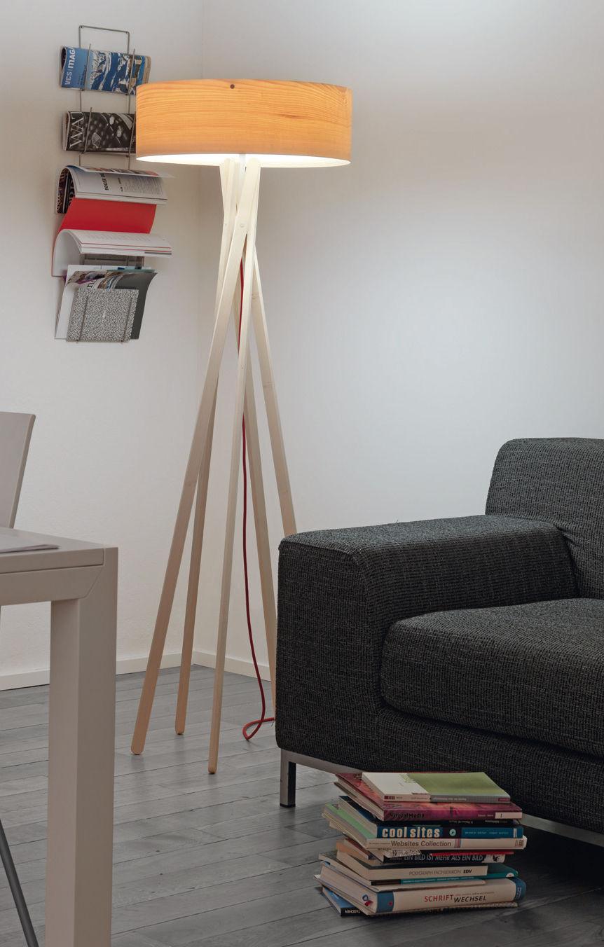 Lampadaire arba lampadaire avec variateur bois avec variateur belux - Lampadaire avec variateur ...