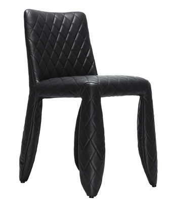 Furniture - Chairs - Monster Padded chair by Moooi - Black - one colour - Synthetic leather