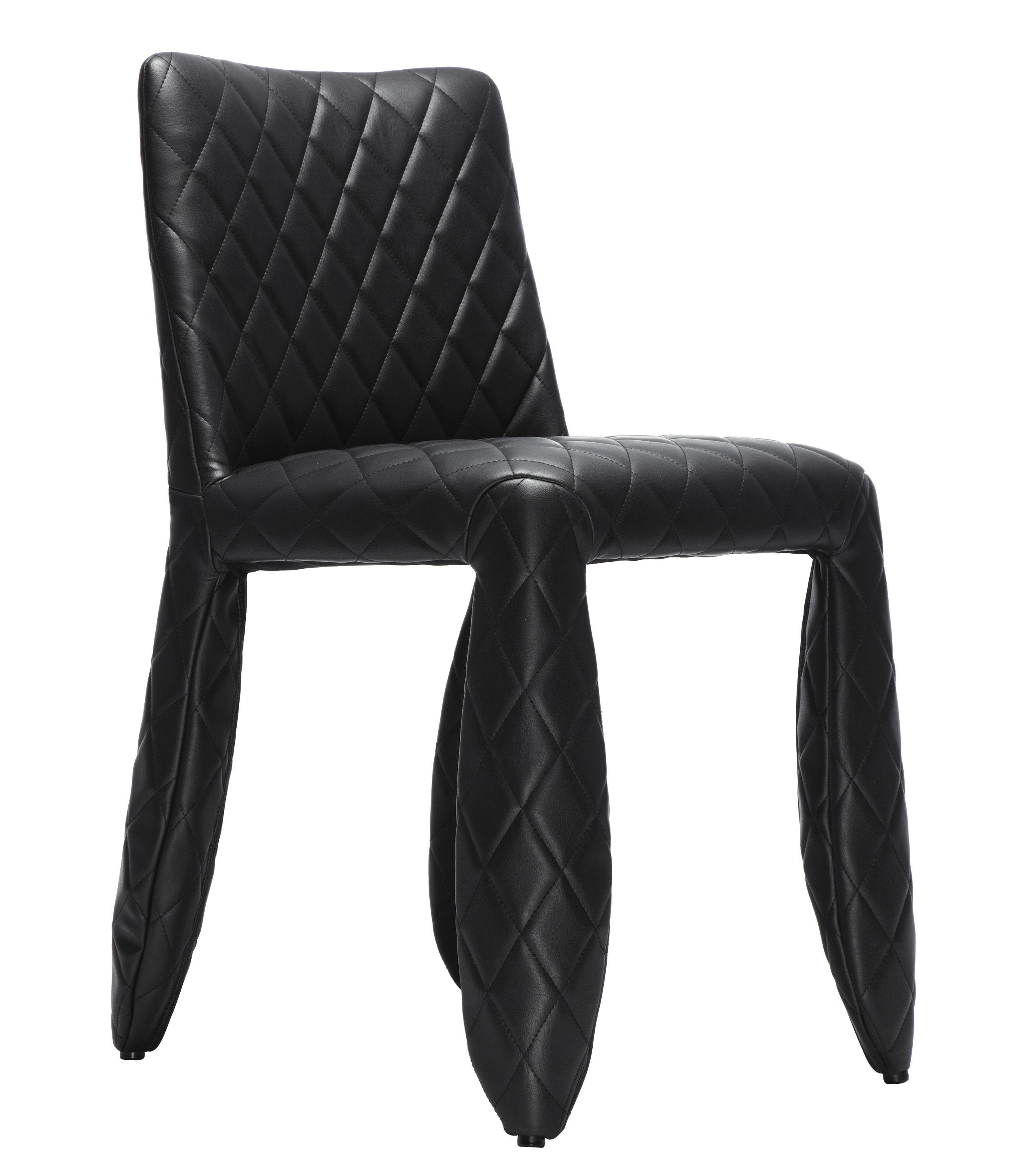 chaise rembourr e monster mod le uni noir uni moooi. Black Bedroom Furniture Sets. Home Design Ideas