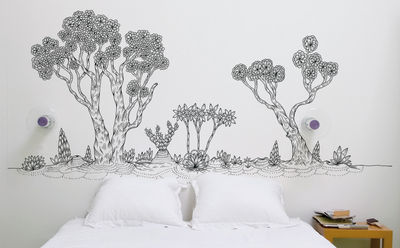 Decoration - Wallpaper & Wall Stickers - Martorell landscape Sticker by Domestic - Black - Vinal